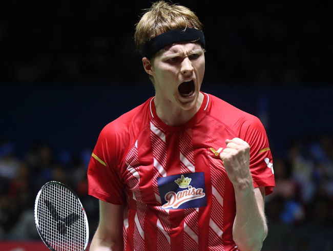 Tunggal putra Denmark, Anders Antonsen Runner Up Indonesia Open 2019